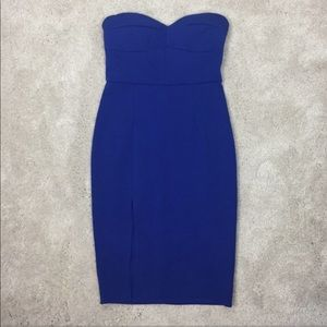 Nordstrom Few Moda Bodycon Blue Strapless Dress S